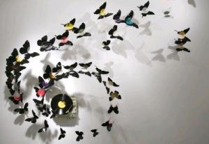 Artesanato-decoração-com-discos-de-vinil