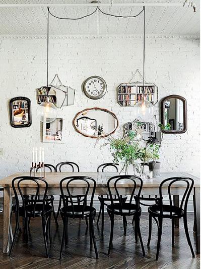 espelhos sala de jantar