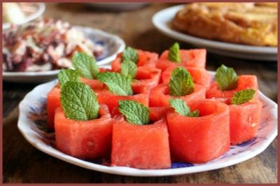 copinhos de melancia com balsâmico tapas