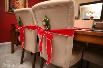 Capa Natalina para cadeira 2