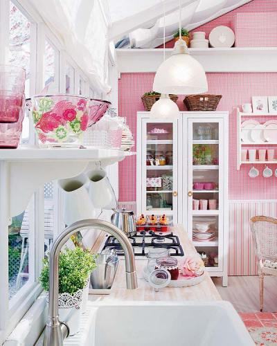 cozinha rosa ikea via micasa5