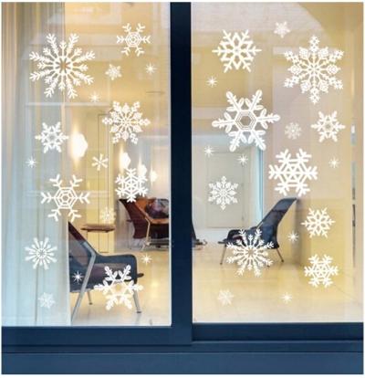 Eco-3D-natal-sólido-decoração-janelas-adesivo-flocos-de-neve-papai-noel-romântico-decoração-DIY-projeto