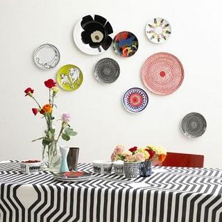 ideiasdebaixodotelhado blogspot com - decoracao-parede-ideias-pratos2