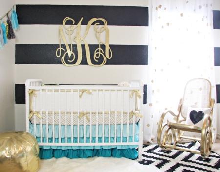 quarto-de-bebe-preto-branco-dourado-e-azul