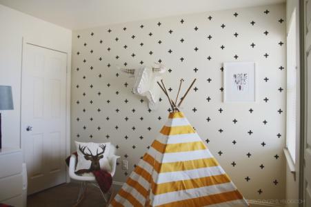 Como-decorar-parede-com-fita-adesiva