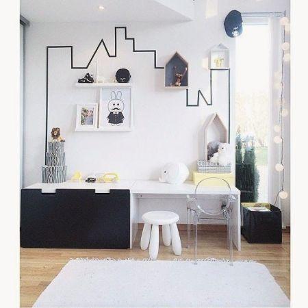 decorar parede com fita isolante4