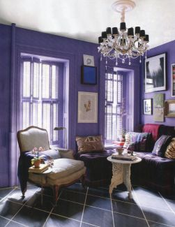 interior-dining-room-furniture-decorating-ideas-appealing-purple-wall-painting-for-decorating-your-dining-room-including-purple-velvet-tufted-dining-chairs-and-white-wooden-dining-table-