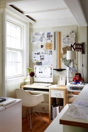 plastic-pegboard-Home-Office-Eclectic-with-Architect-bulletin-board-Covet