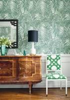 tecido-para-parede-buffet-e-folhas-verdes