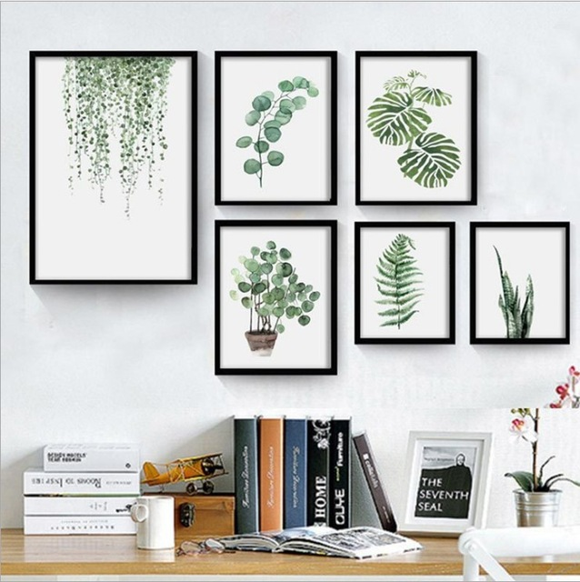 Green-Leaves-Posters-And-Prints-Wall-Art-Canvas-Painting-Wall-Pictures-For-Living-Room-Nordic.jpg_640x640