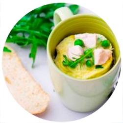 omelete de caneca